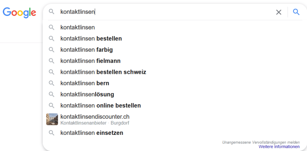 Google Suggest - Keyword Analyse