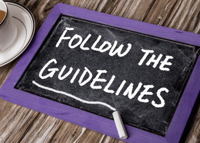 Folge den Community Guidelines